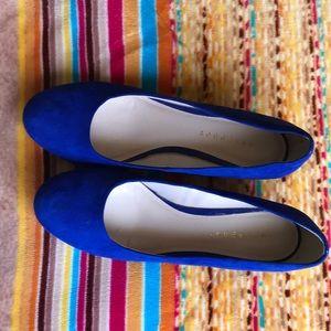 Royal blue wedges